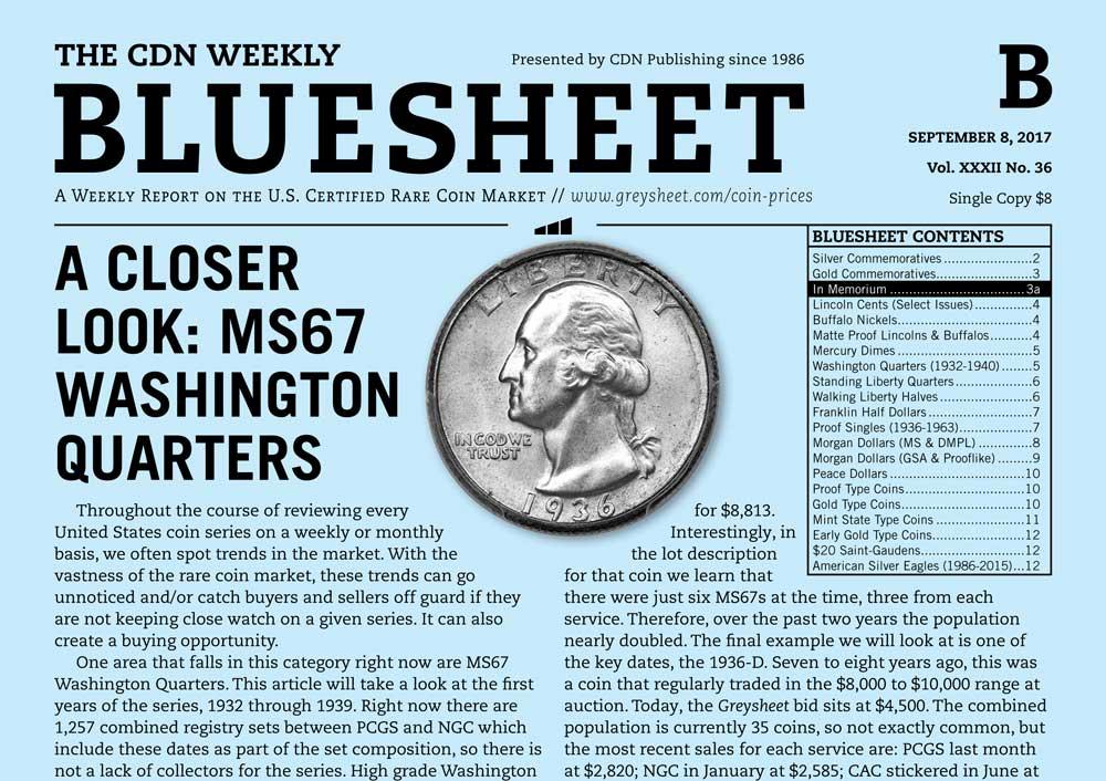 thumbnail image for BLUESHEET: A CLOSER LOOK: MS67 WASHINGTON QUARTERS