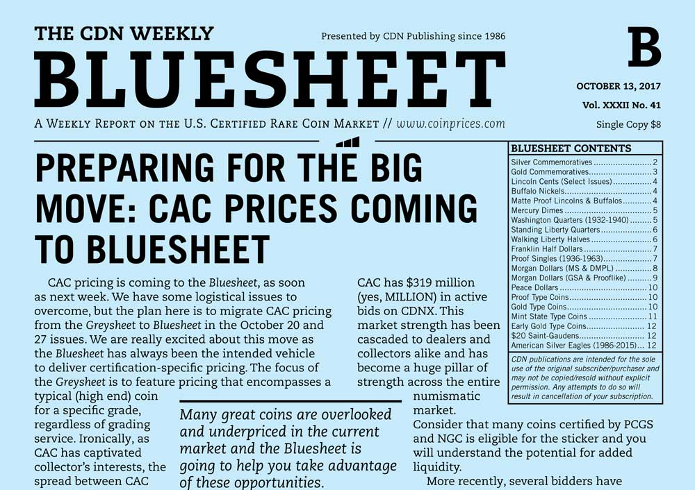 main image for BLUESHEET: PREPARING FOR THE BIG MOVE: CAC PRICES COMING TO BLUESHEET