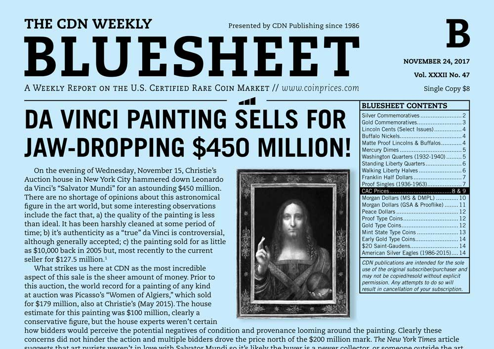 main image for BLUESHEET: DA VINCI PAINTING SELLS FOR JAW-DROPPING $450 MILLION!