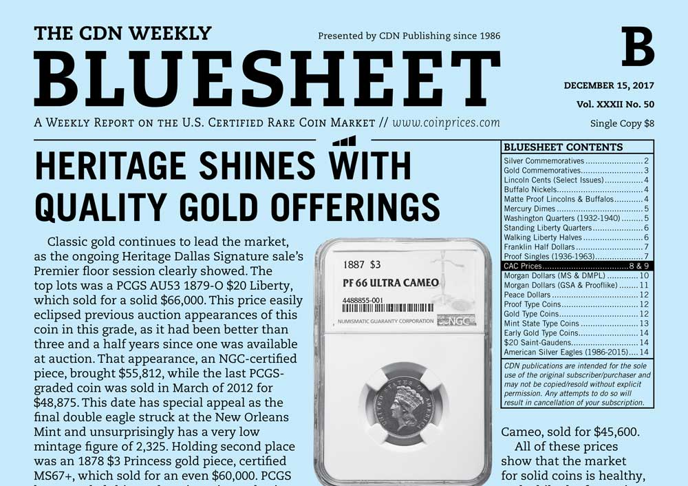 main image for BLUESHEET: HERITAGE SHINES WITH QUALITY GOLD OFFERINGS