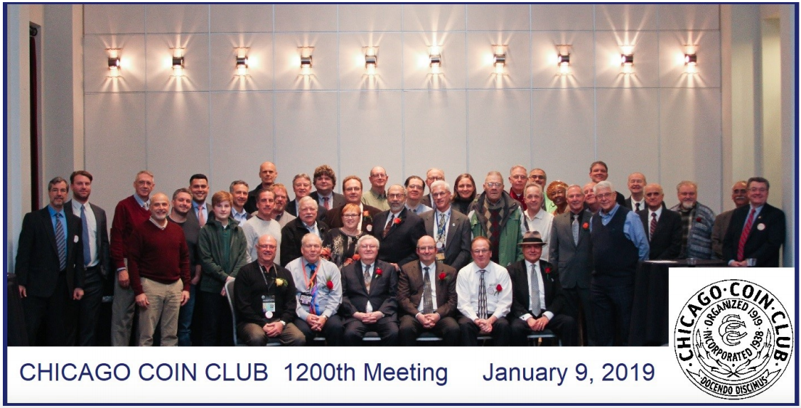 main image for Chicago Coin Club Celebrates 1200th Meeting in Centennial Year
