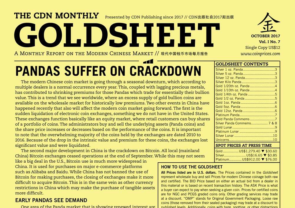 thumbnail image for GOLDSHEET: PANDAS SUFFER ON CRACKDOWN
