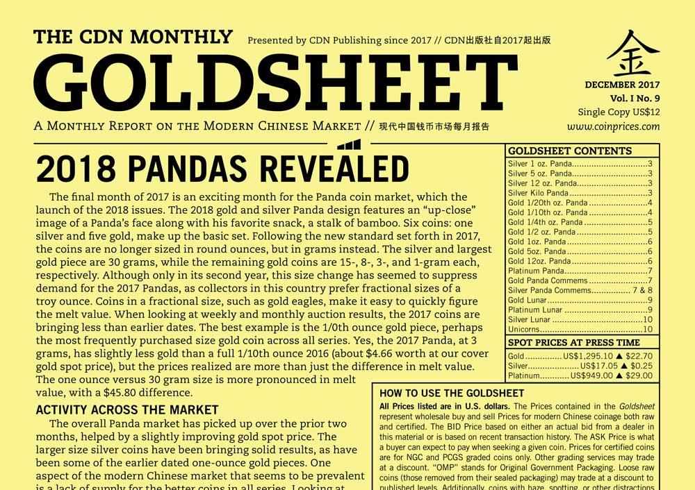 main image for GOLDSHEET: 2018 PANDAS REVEALED