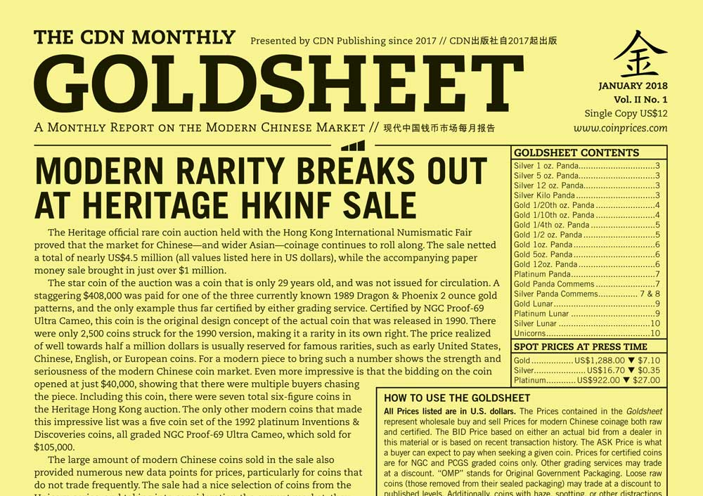 main image for GOLDSHEET: MODERN RARITY BREAKS OUT AT HERITAGE HKINF SALE