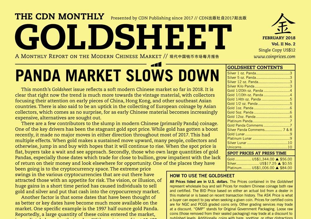 thumbnail image for GOLDSHEET: PANDA MARKET SLOWS DOWN