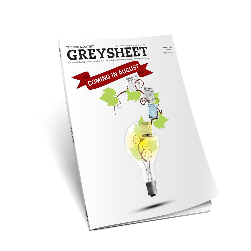 main image for August Monthly Greysheet Format Upgraded to Magazine-Quality Paper & Binding