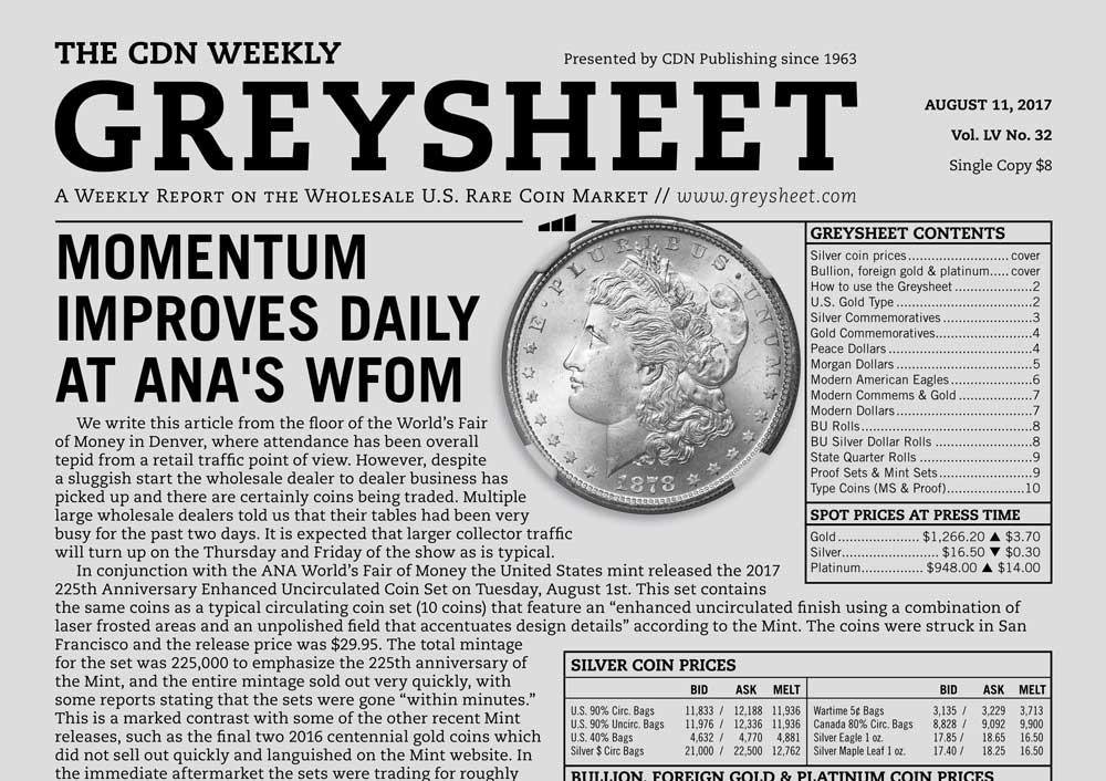 main image for GREYSHEET: MOMENTUM IMPROVES DAILY AT ANA'S WFOM