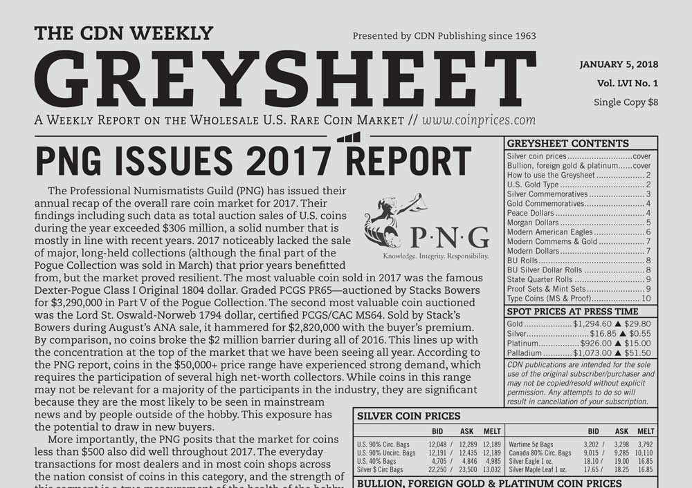 main image for GREYSHEET: PNG ISSUES 2017 REPORT