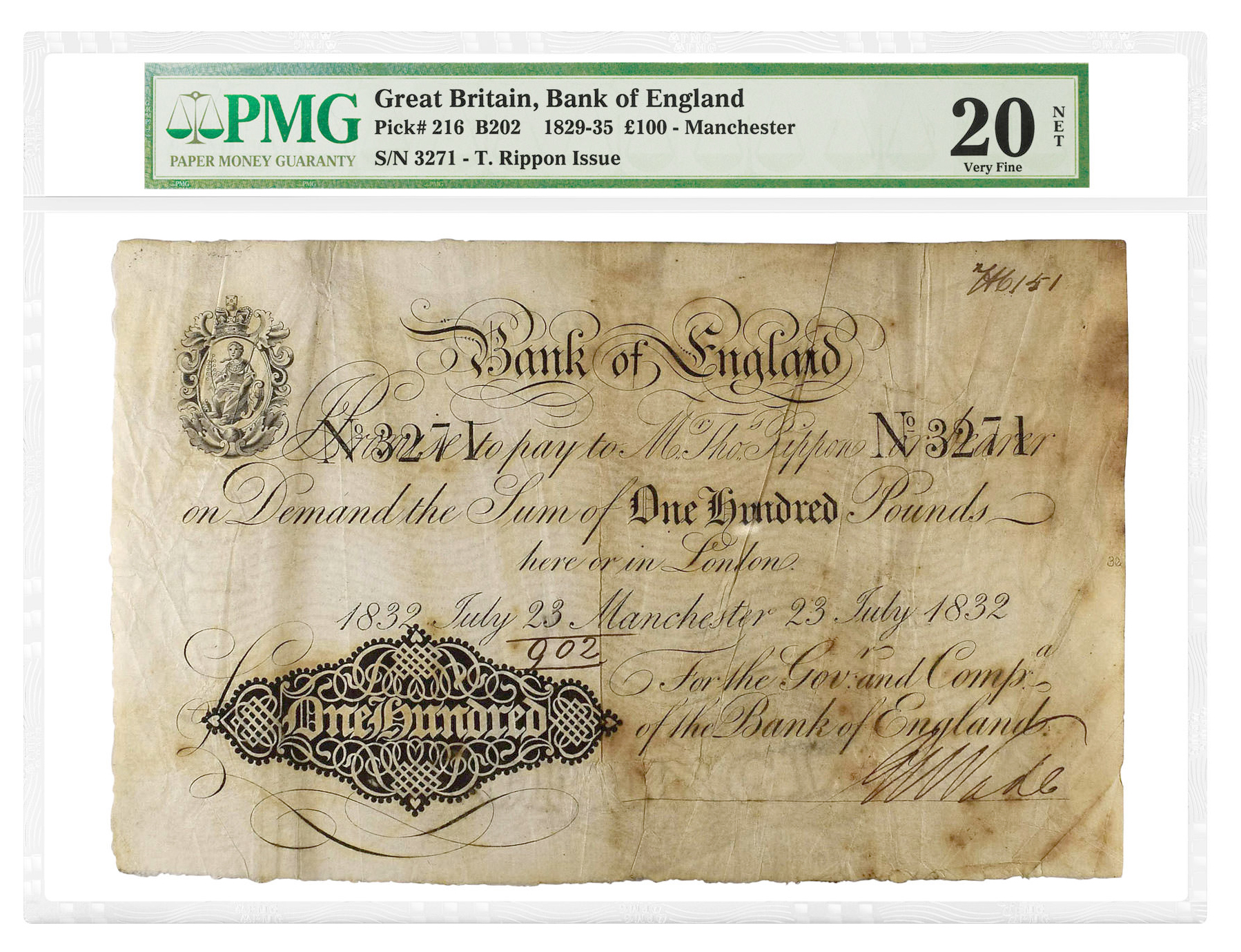 main image for PMG-Certified Paper Currency from Manzi Collection Excel at Auction