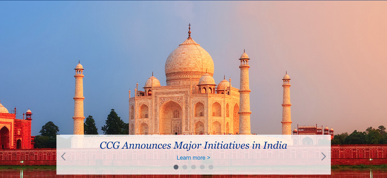 main image for CCG Announces Major Initiatives in India