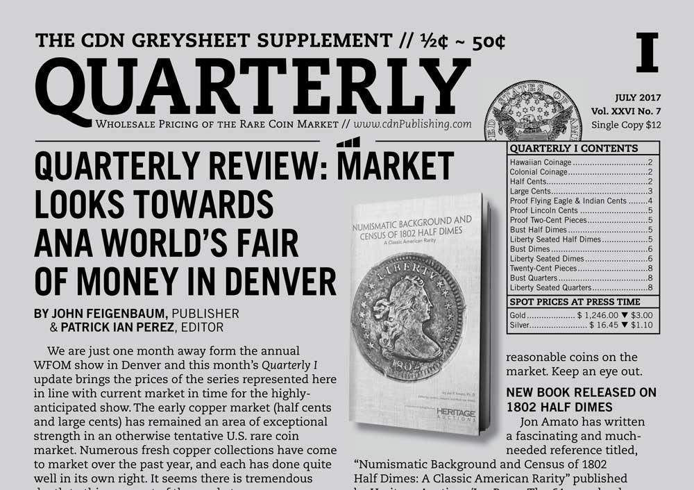 thumbnail image for QUARTERLY REVIEW: MARKET LOOKS TOWARDS ANA WORLD'S FAIR OF MONEY IN DENVER