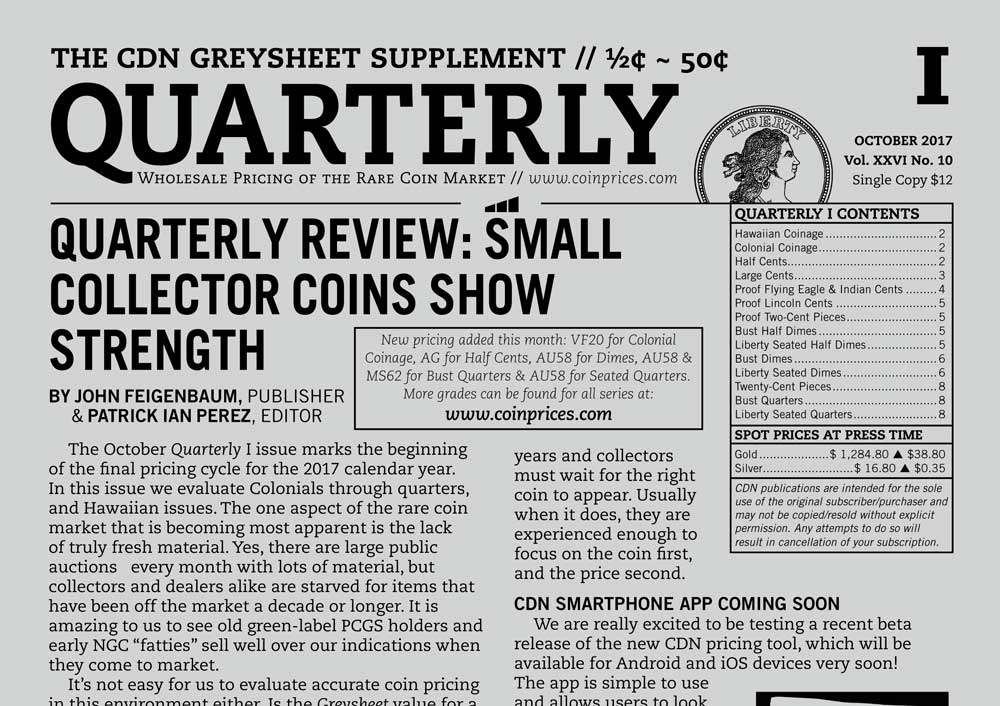 thumbnail image for QUARTERLY REVIEW: SMALL COLLECTOR COINS SHOW STRENGTH