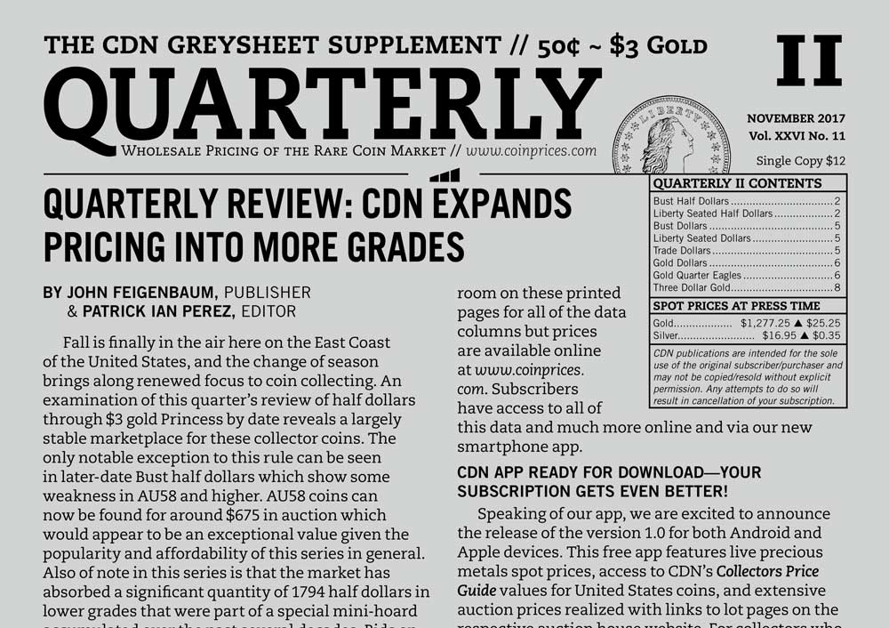 main image for QUARTERLY REVIEW: CDN EXPANDS PRICING INTO MORE GRADES