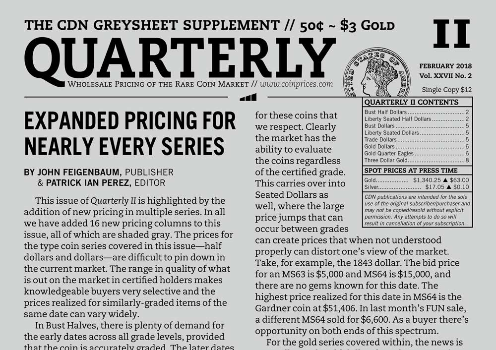 main image for QUARTERLY REVIEW: EXPANDED PRICING FOR NEARLY EVERY SERIES