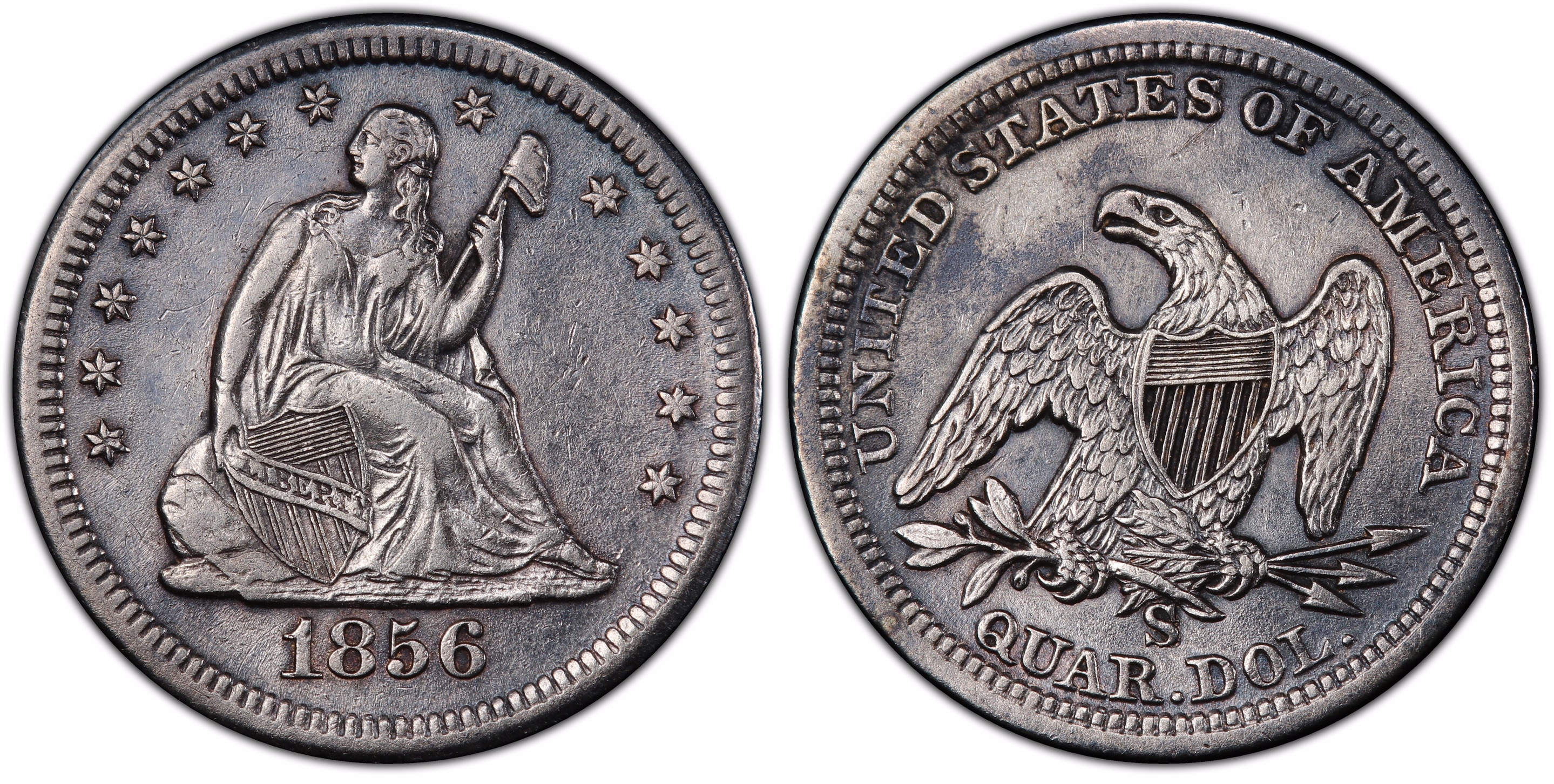 main image for Rare 1856-S/s quarters discovered in amazing SS Central America treasure