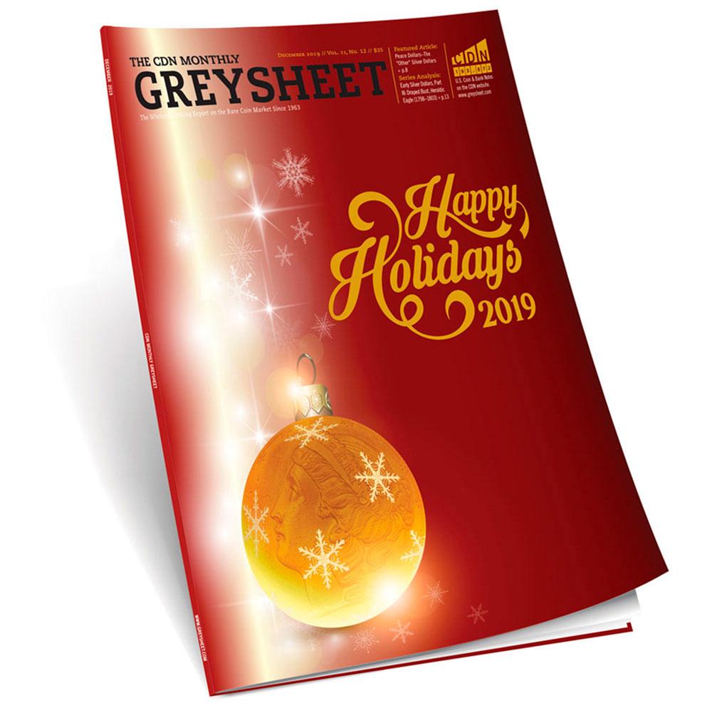 main image for Publisher's Message (December 2019 Greysheet)