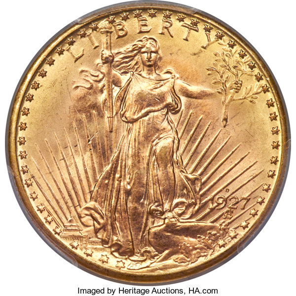 thumbnail image for Gem 1927-D Highlights Incredible Collection of Saint Gaudens from the Rollo Fox to be Auctioned by Heritage Auctions