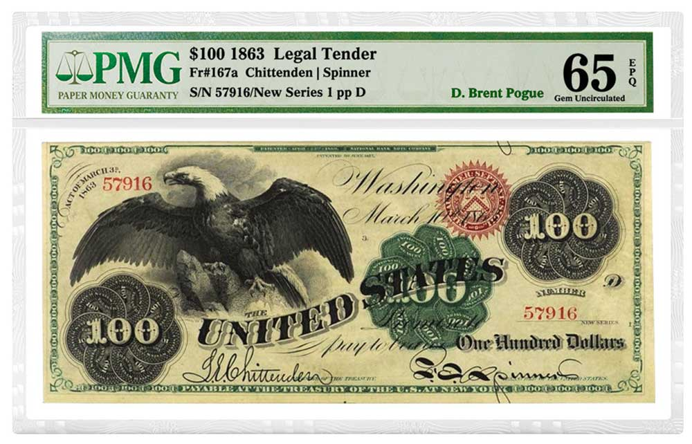 main image for PMG Re-certifies World-Famous D. Brent Pogue Collection of Banknotes
