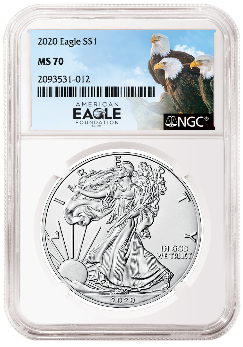 enlarged image for NGC American Eagle Foundation Special Label Honors the Protection and Care of Our National Emblem