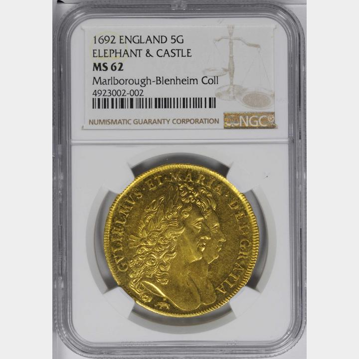 thumbnail image for Stack's Bowers Auction at the 2020 New York International Numismatic Convention Realizes Nearly $5.8 Million Led by 1692 5 Guineas of William & Mary