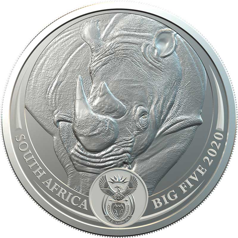 main image for South African Mint Hopes to Take the Rhino out of Harm's Way with New Coin