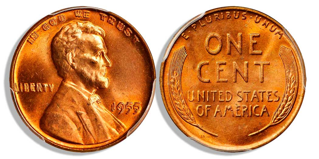 main image for Finest Known 1955 Doubled Die Cent Realizes Record-Setting $125k at GreatCollections
