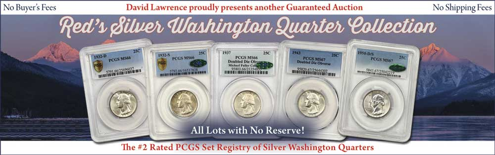 thumbnail image for Red's Silver Washington Quarter Collection to be Featured by David Lawrence Rare Coins in their  Upcoming Sunday Auction