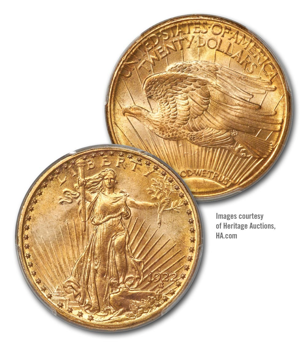 thumbnail image for The Exciting & Unexpected Auction of Rollo Fox Set of Saint Gaudens Double Eagles