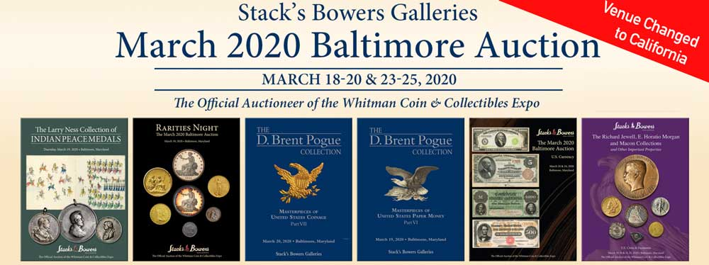 thumbnail image for Stack's Bowers Re-locates Baltimore Whitman Coin Expo Auction to California