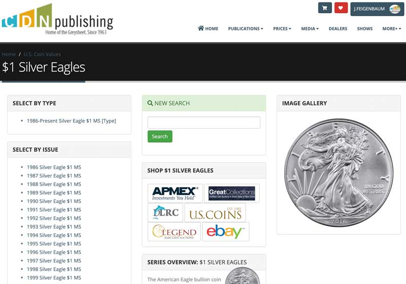 main image for CDN Online Price Guide Becoming More User Friendly, One Coin At A Time