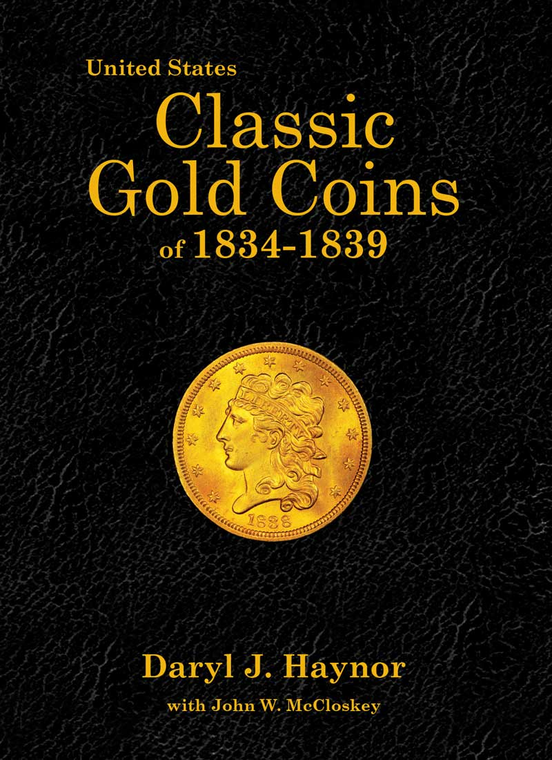 main image for New Book: United States Classic Gold Coins of 1834-1839