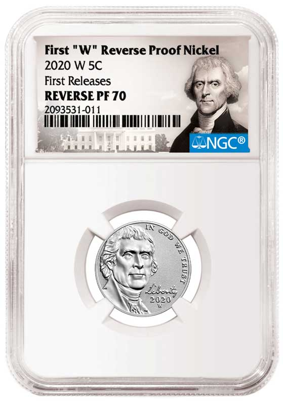 main image for NGC Special Attribution and Labels for 2020-W Reverse Proof Nickel