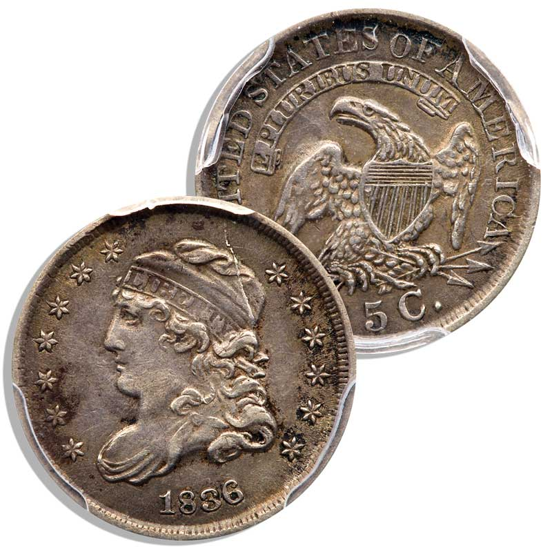 main image for BUILDING A SET OF CAPPED BUST HALF DIMES (1829-1837)