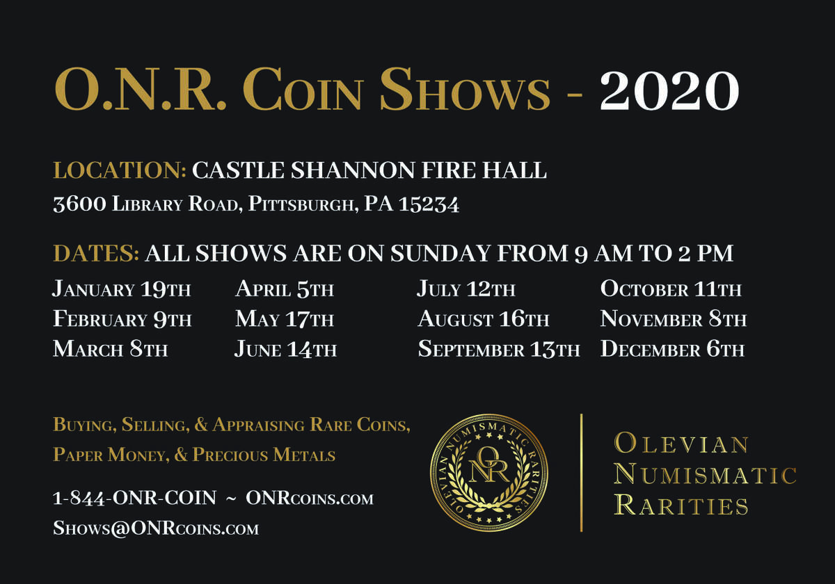 Cdn Publishing O N R Coin Show