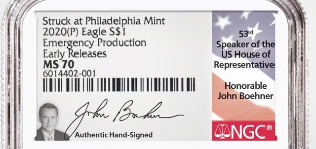 main image for Former House Speaker Boehner Signs Emergency Eagles Inserts