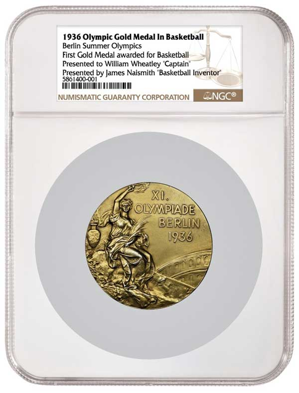 thumbnail image for NGC Certifies First Olympic Gold Medal for Basketball Ever Awarded