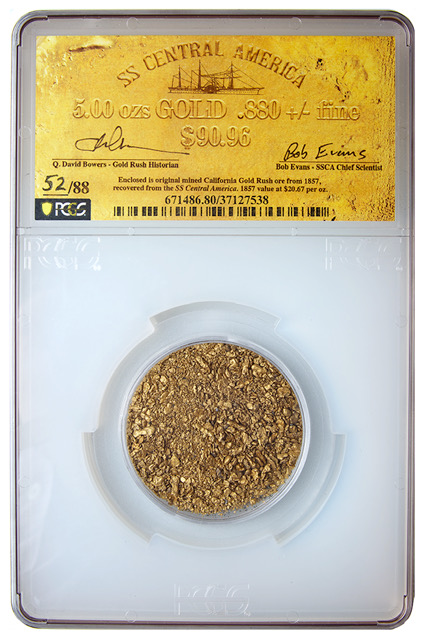 thumbnail image for Never Before Offered S.S. Central America Treasure In Goldberg's September 2020 Auction
