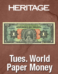 Heritage World Paper Money Weekly Auction