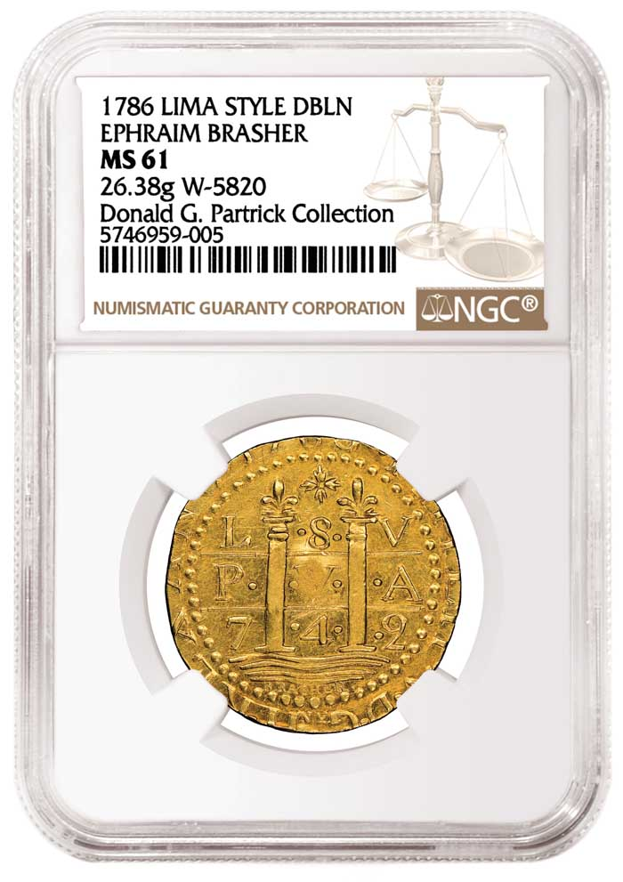 thumbnail image for NGC Certifies Two Brasher Doubloons and Other Extreme Rarities from the Partrick Collection