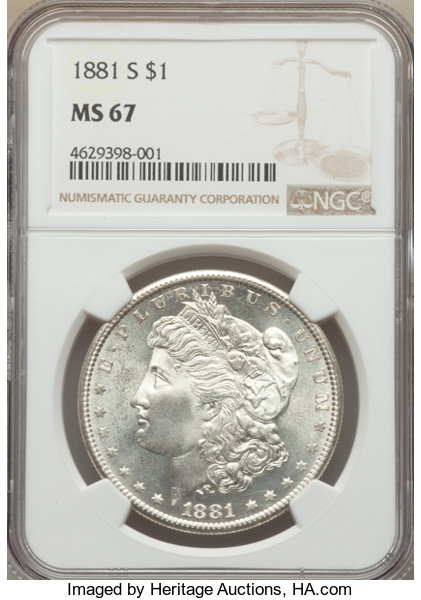 main image for Strong Demand Means Higher Bids for Certified Mint State Morgan Dollars