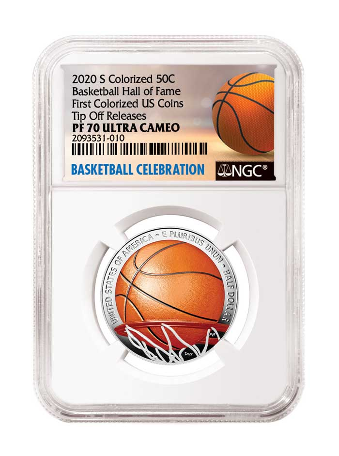 main image for An American First! NGC Celebrates the 2020 Colorized Basketball Coins