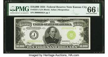thumbnail image for A $10,000 Bill Sets $384,000 World Record at Heritage Auctions