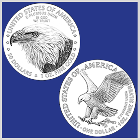 thumbnail image for United States Mint Unveils New American Eagle Gold and Silver Coin Reverse Designs
