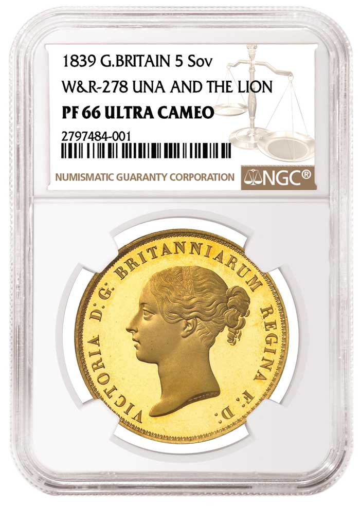 "thumbnail image for Finest-graded NGC-Certified ""Una and the Lion"" Offered in MDC Monaco Sale"