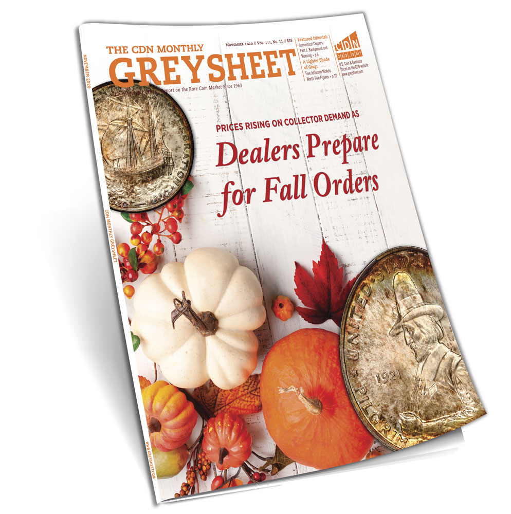 thumbnail image for Publishers Message: Dealers Prepare for Fall Orders (November 2020 Greysheet)