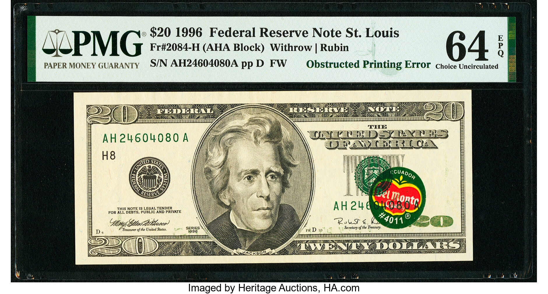 "thumbnail image for Unpeel the Famous ""Del Monte Note,"" Accidentally Printed With a Banana Sticker!"