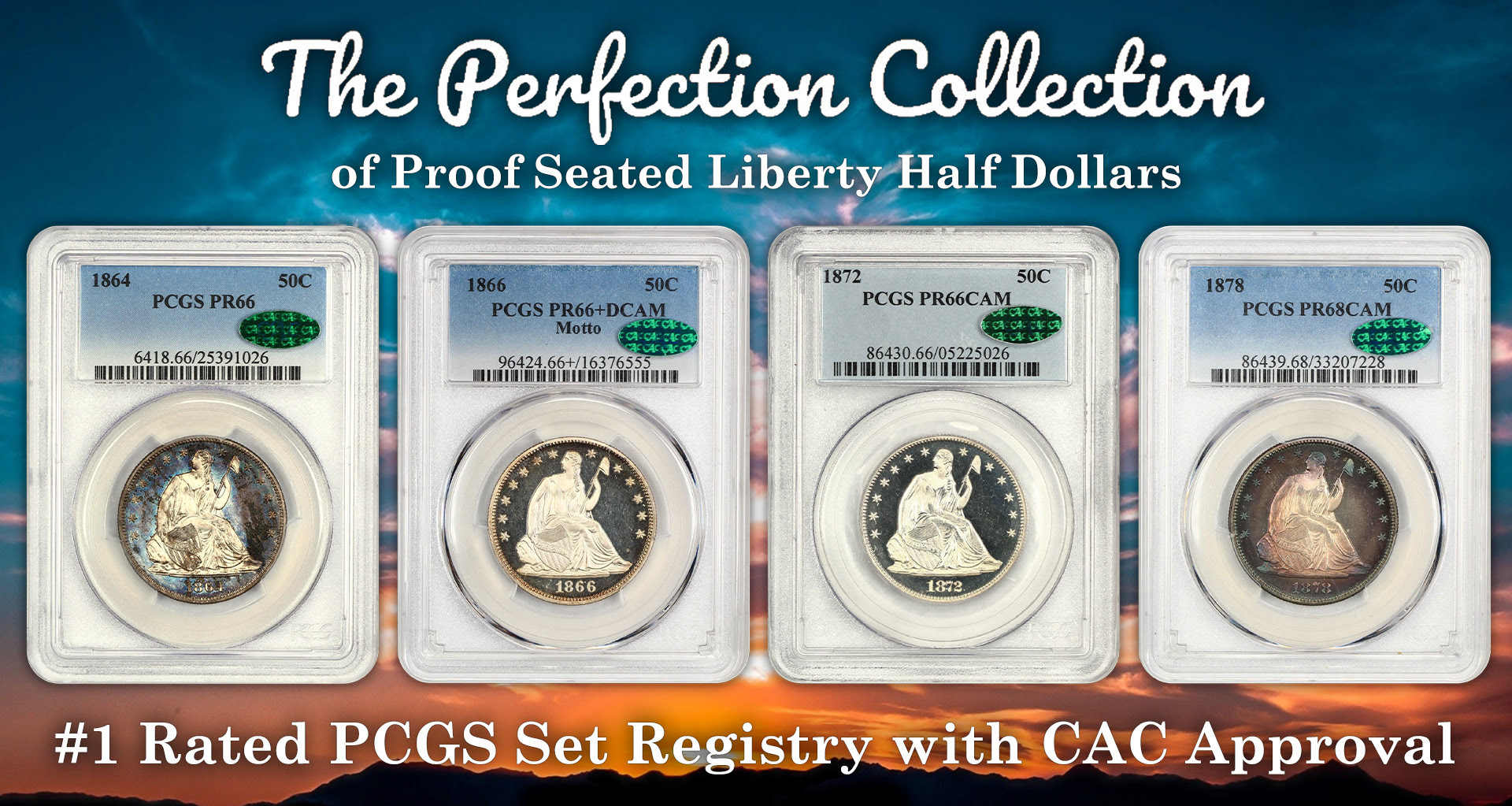 thumbnail image for Top Registry Collection of Proof Seated Half Dollars Realizes over $400,000 at DLRC