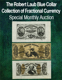 Heritage U.S. Currency Robert Laub Blue Collar Collection of Fractional Currency