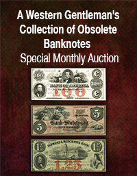 Heritage U.S. Currency Western Gentlemans Collection of Obsolete Banknotes
