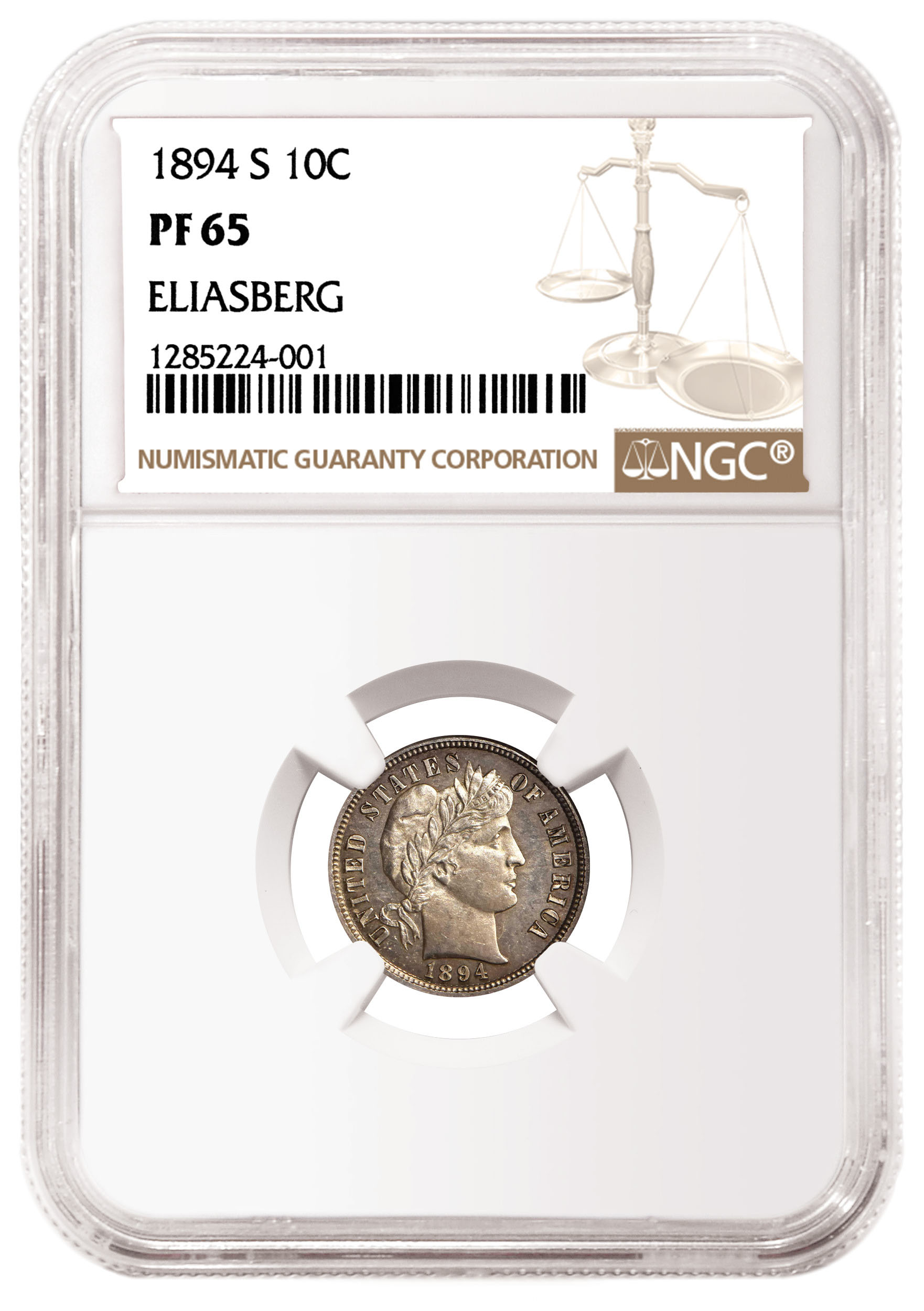 main image for NGC-Certified 1894-S Barber Dime Will Sell for More Than $1 Million in Stacks Bowers Sale